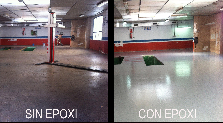 Reparar suelo taller pintar suelo taller epoxi garaje - Pintura para pintar piso de cemento ...