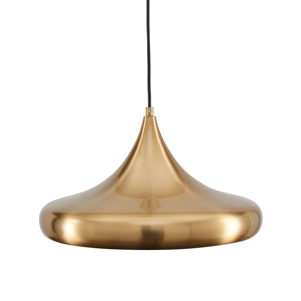 Southern Enterprises Reddie 1 Light Antique Brass Ball Pendant Lamp Hd315188 The Home Depot Pendant Lamp Gold Pendant Lamp Vintage Pendant Lighting