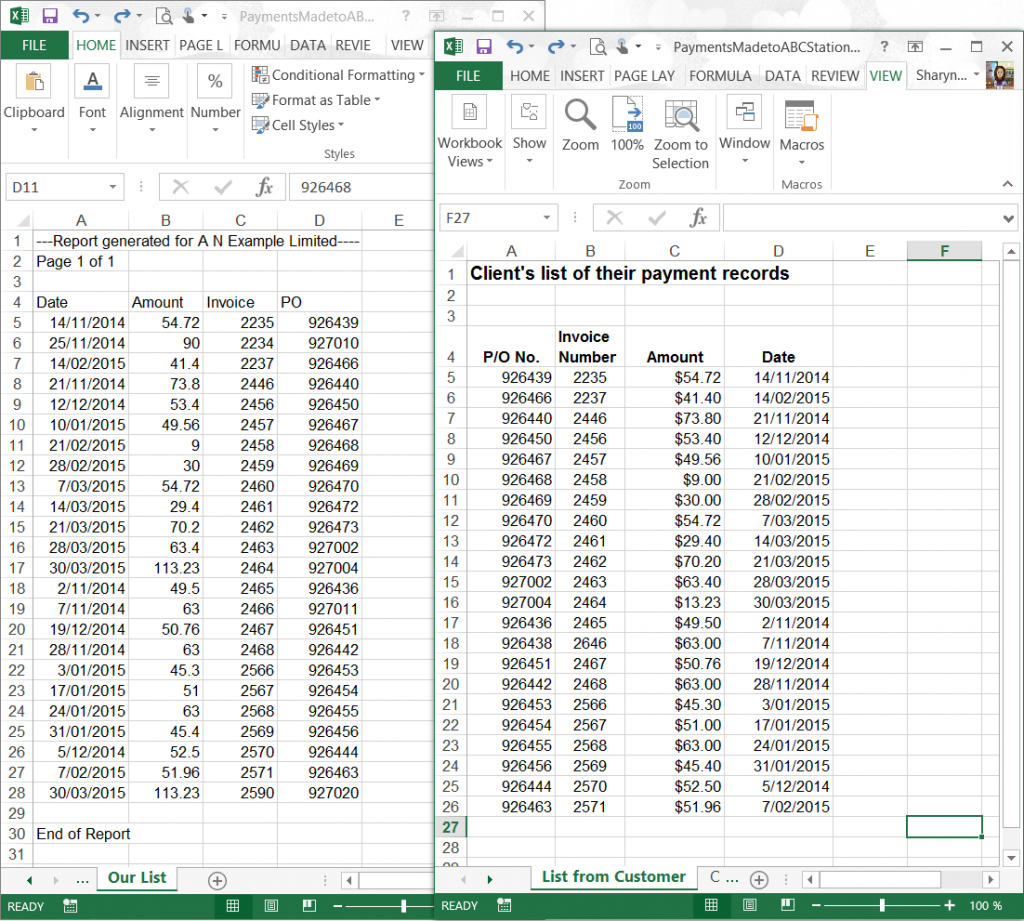 Vlookup Compare Two Lists