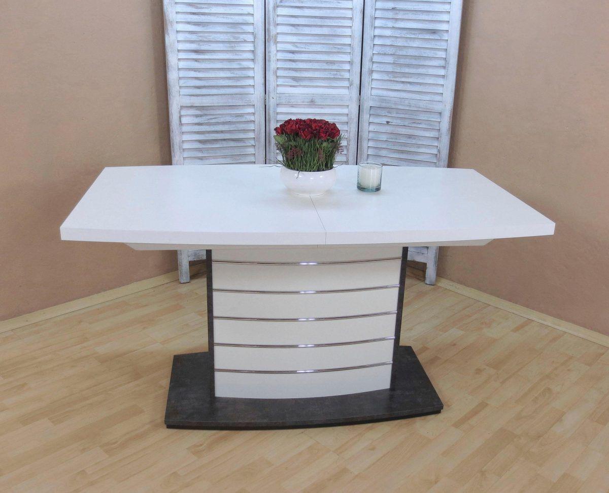 Esstisch weiß, eckig, beton anthrazit, pflegeleichte Oberfläche, FSC ...