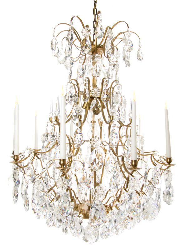 Very Arge Baroque Scandinavian Crystal Chandelier 106d Rococo