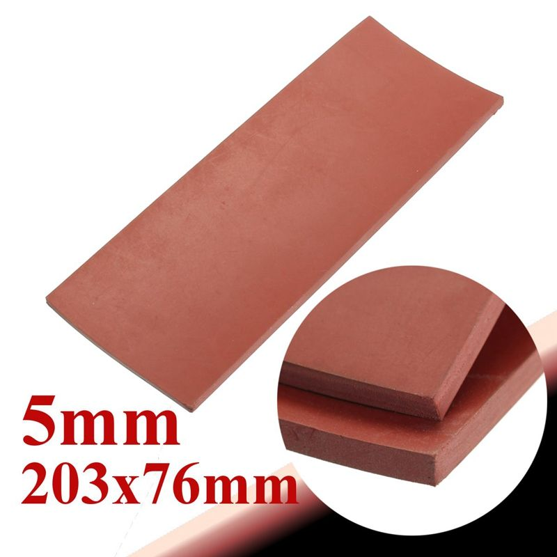 Red 5mm 1 5 Thickness 8 X 3 Rubber Sheet Chemical Resistance High Temp Silicone Rubber Plates Oil Pollution