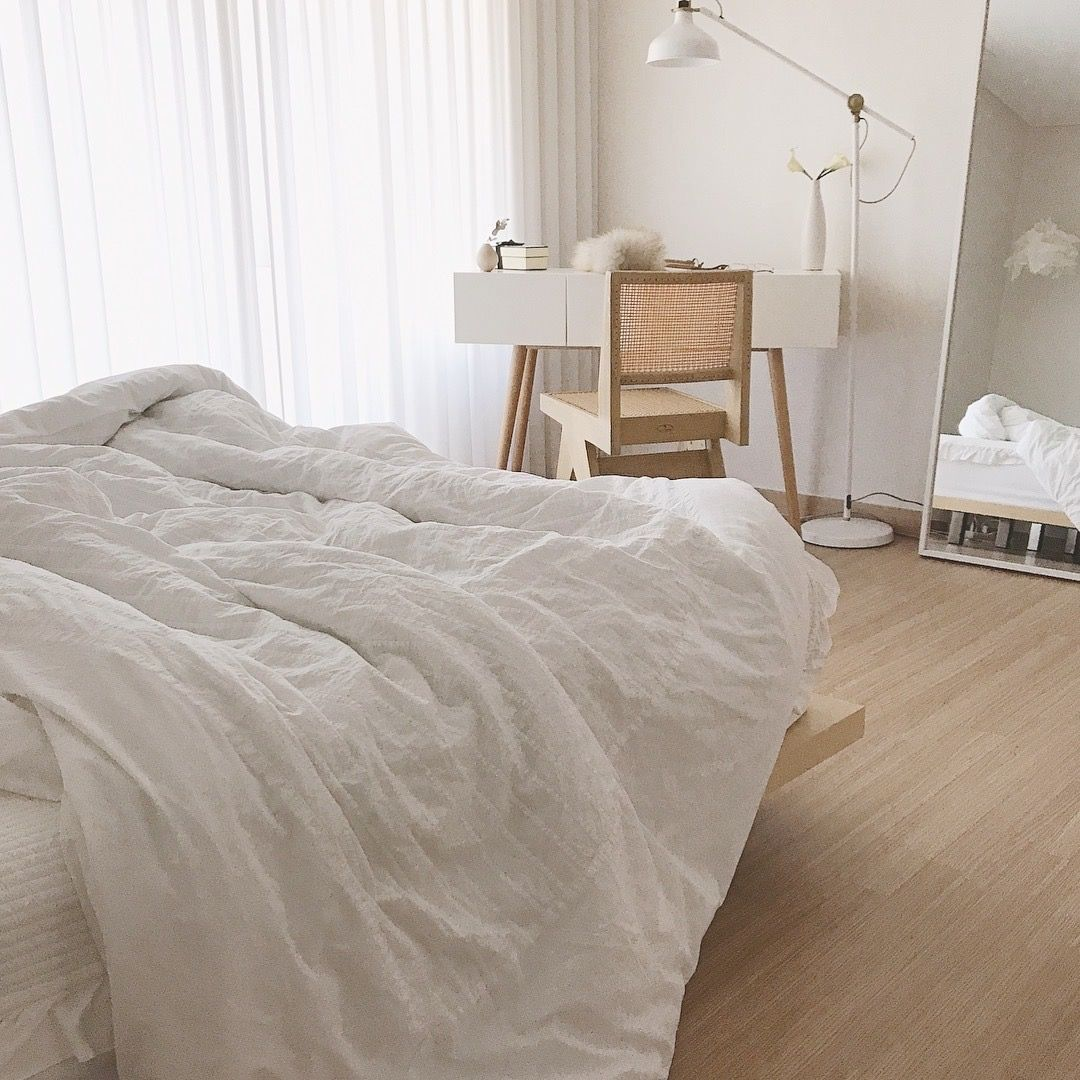 modern minimal comfy home design  aesthetic bedroom