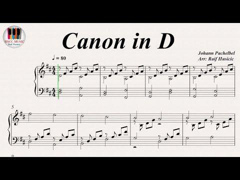 Pachelbel Canon In D Major Youtube Muzyka Fortepiano