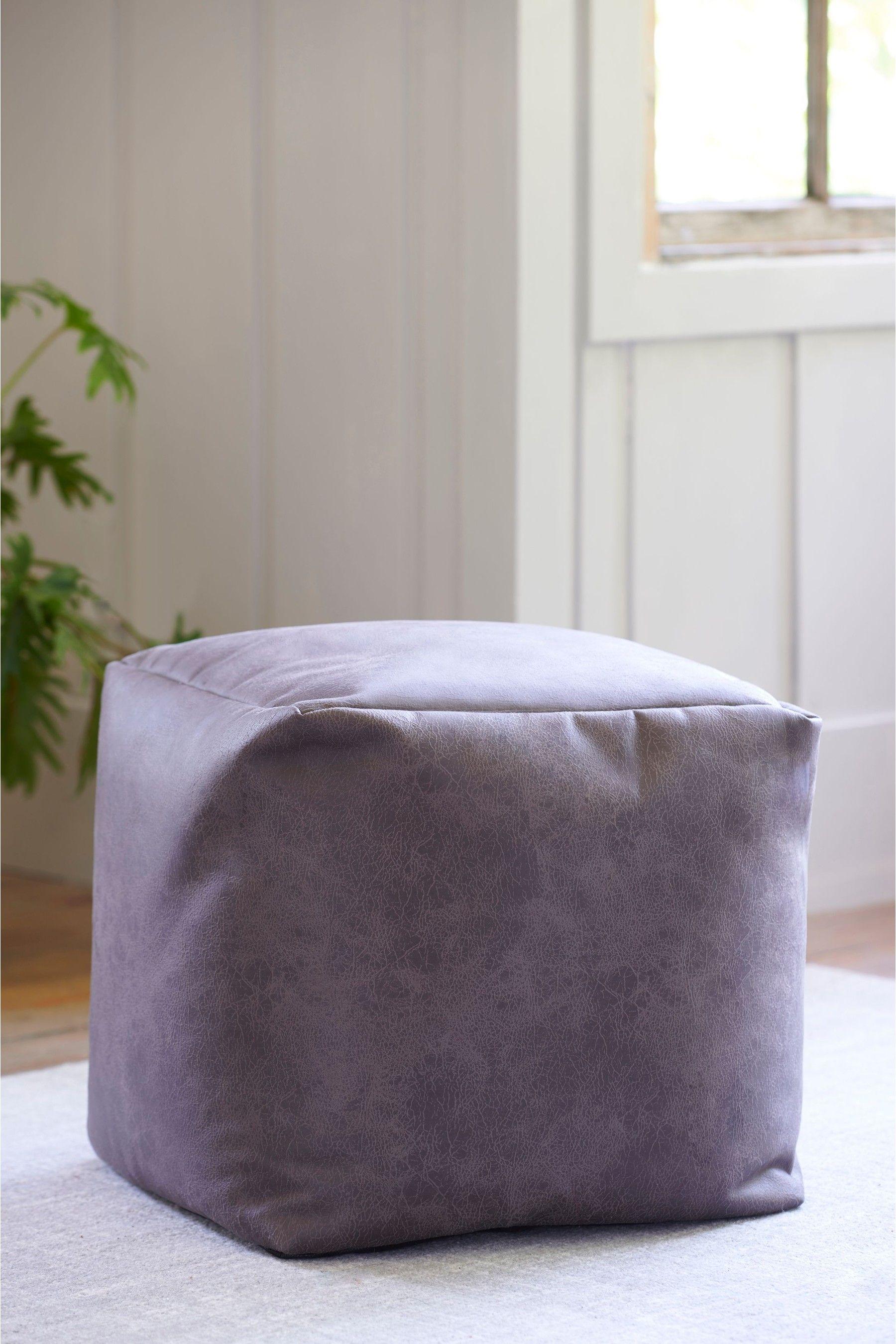 Next Monza Faux Leather Cube Grey