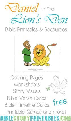Daniel In The Lion S Den Printables Preschool Bible Lessons