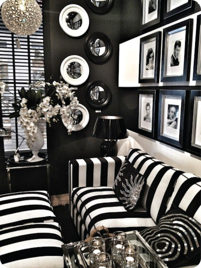 Black And White Hollywood Glam White Home Decor Black And White Living Room White Decor