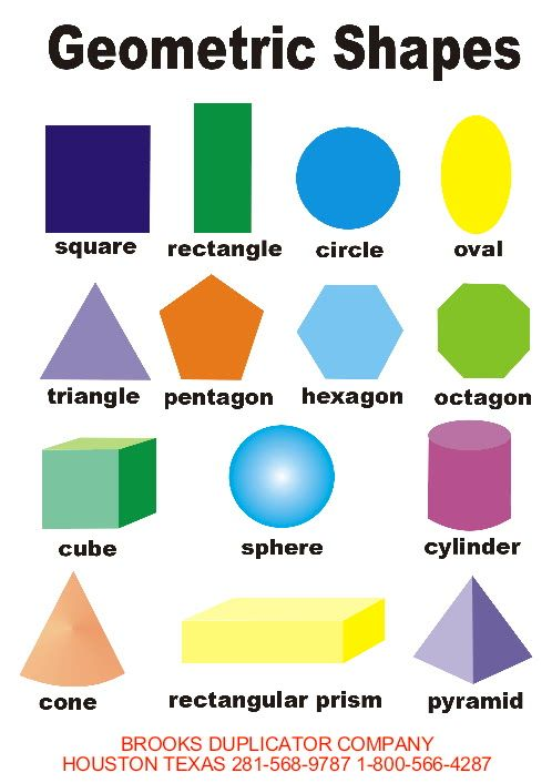 shapes for kids | Printable geometric shapes for children ...
