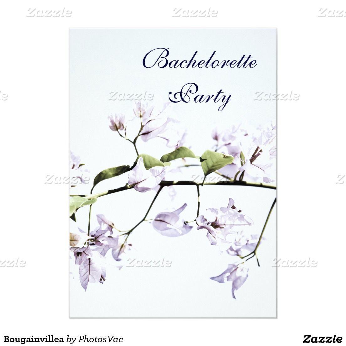#Bougainvillea 5x7 Paper #Invitation #Card #bachelorette #party