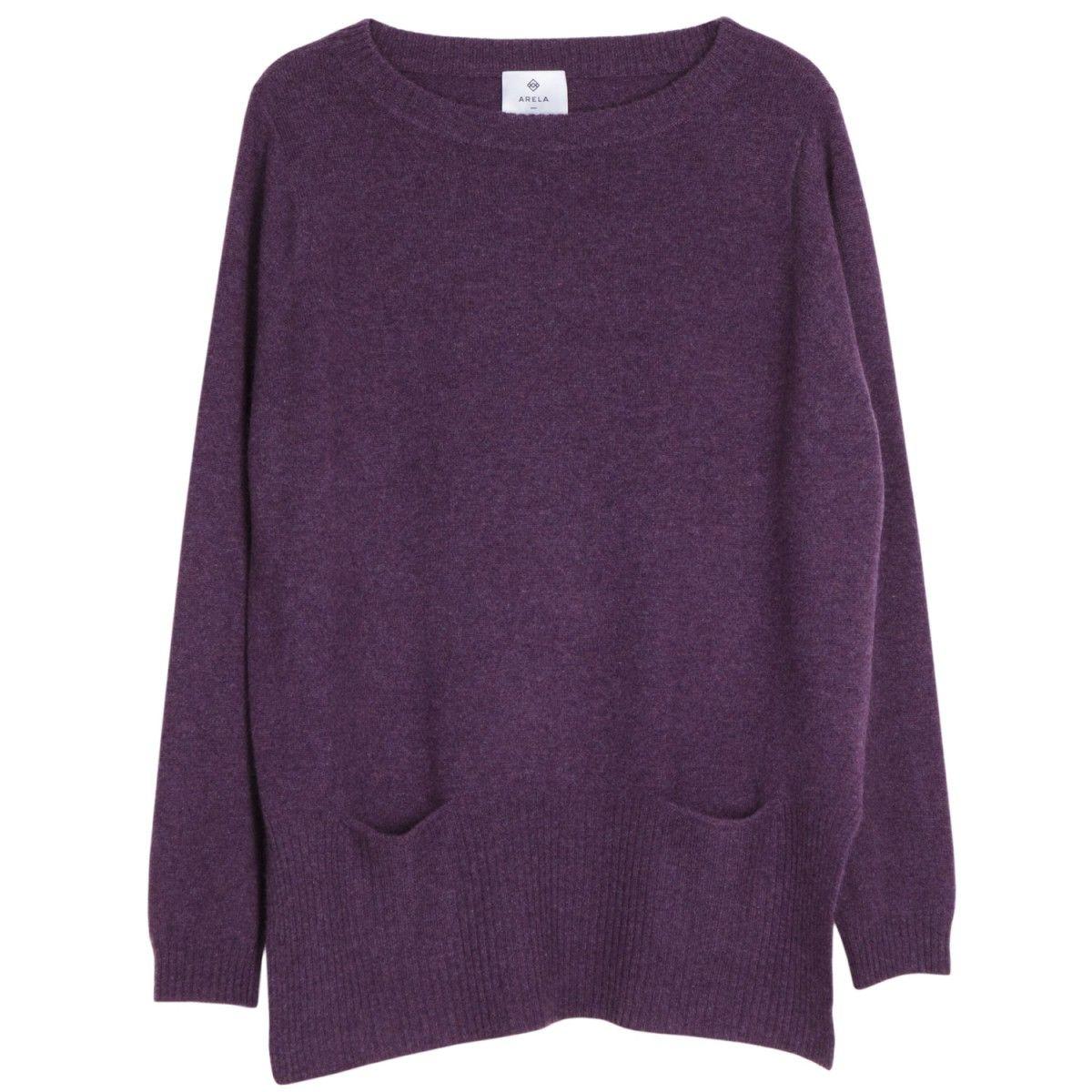 Elsie Pocket Cashmere Sweater in Gloucester violet | Arela | Our ...