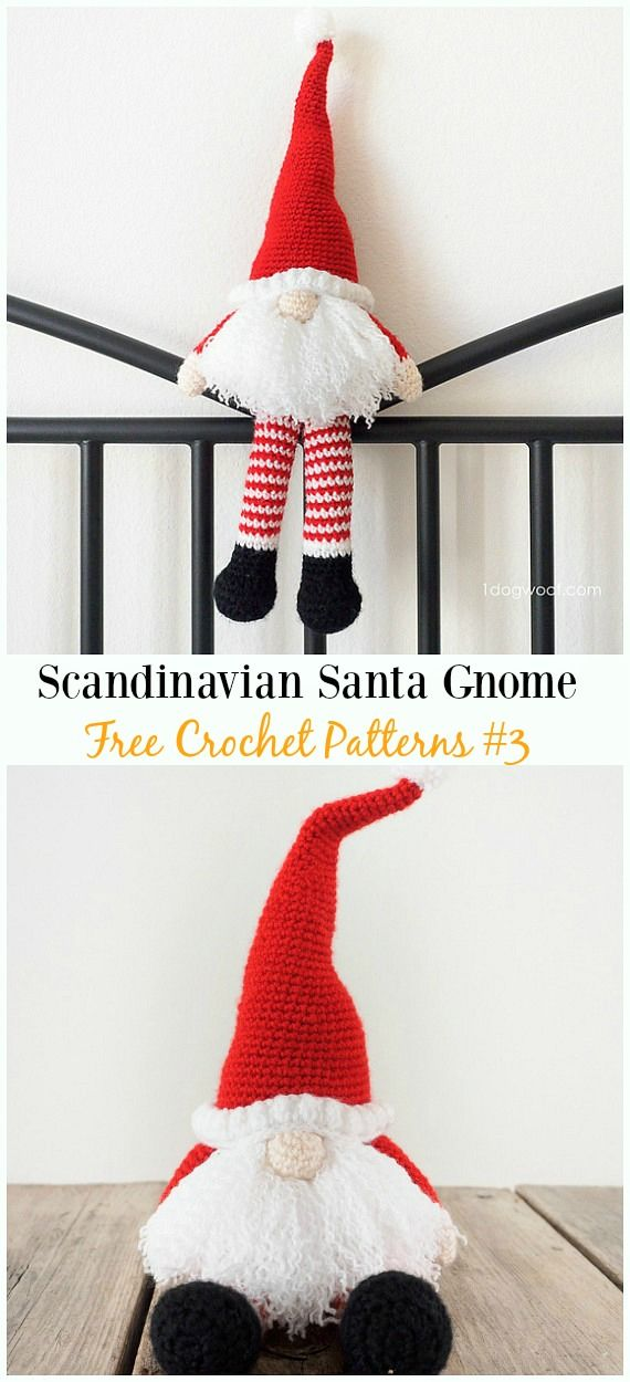Scandinavian Santa Gnome Amigurumi Crochet Free Pattern - Free ...