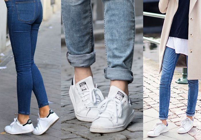cea73c2bd0fc Stan Smith Sneakers Skinny Jeans Adidas Stan Smith White