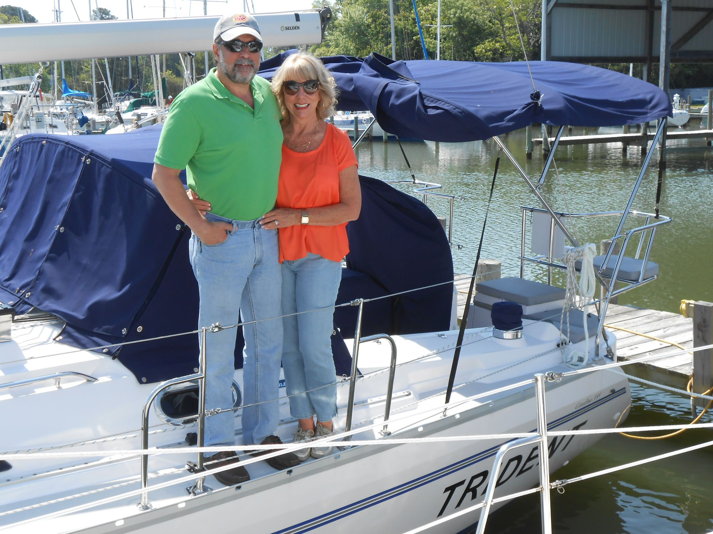 Pam and John A  are the proud new owners of