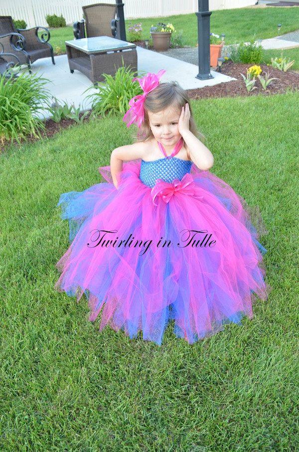7ef1cfd62b8 Royal Blue/Shocking Pink Tulle Birthday Dress | Kaitlyn's birthday ...