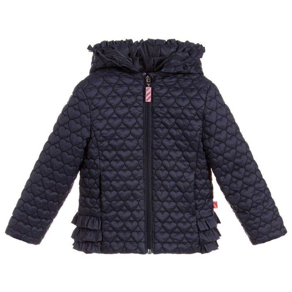 8166c980b Girls Blue Padded Jacket