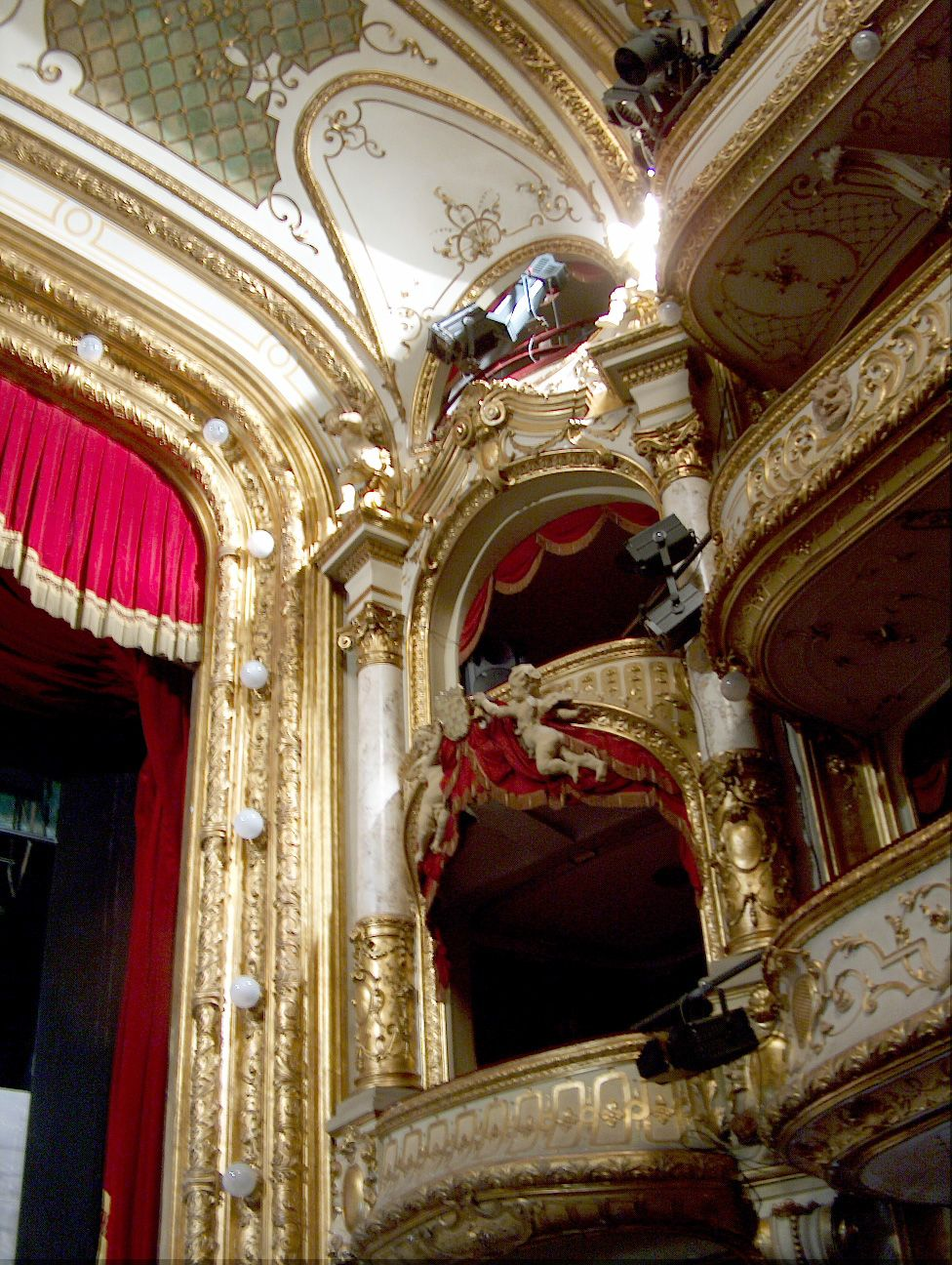 Highly Ornate Baroque Theatre Box In Zagreb National Theatre Croatia Theatre Architecture National Theatre Phantom Of The Opera