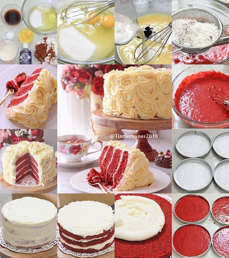 Best Red Velvet Cake Ever With Creamcheese Frosting Super Easy Moist Only 2 Eggs Recomended Made By Tintinrayner Recipe By Kue Resep