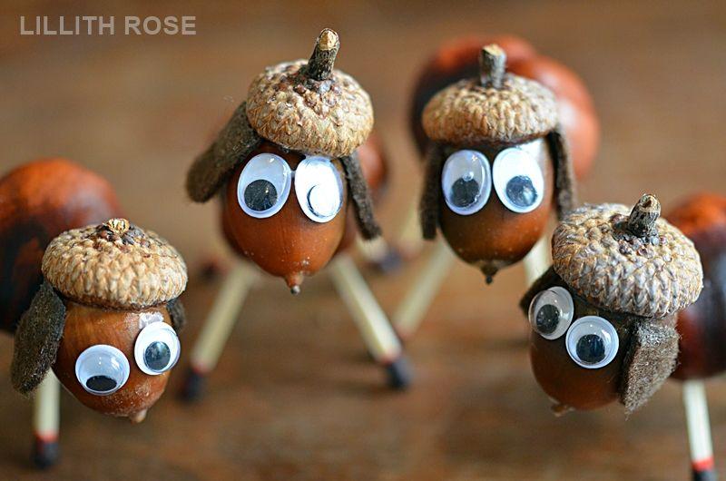 Basteln mit kindern basteln mit kids acorn crafts for Herbstbasteleien mit kindern basteln