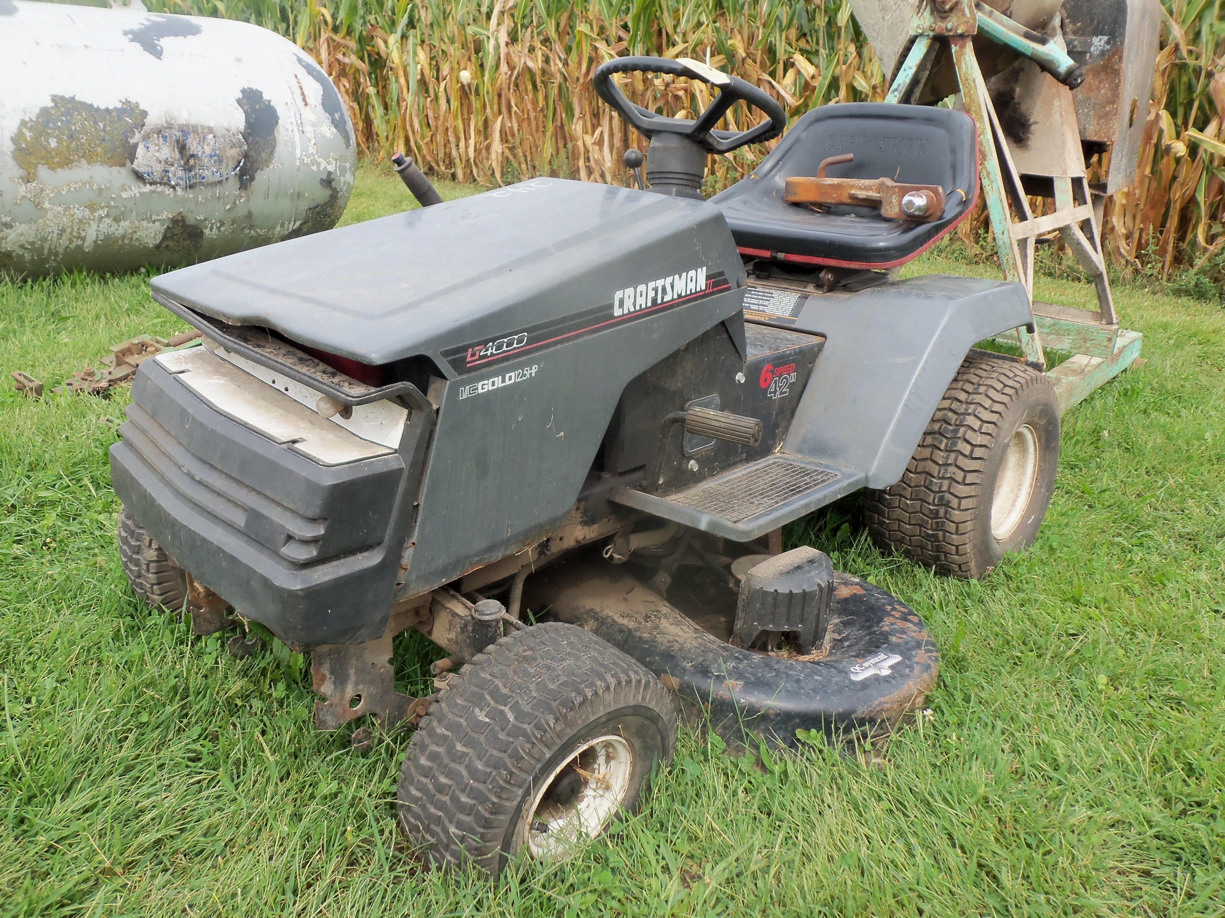 Craftsman Lt4000 12 5hp Lawn Tractor Lawn Tractor Garden Tractor Lawn Mower
