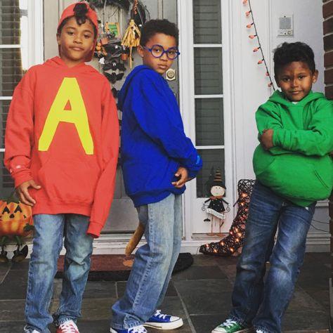 Halloween Ideas For 3 Boys.Halloween Costume Kids 3 Boys The Chipmunks Halloween