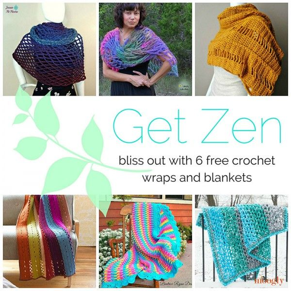 Get Zen with Crochet Wraps and Blankets: A Round-Up by Moogly ...