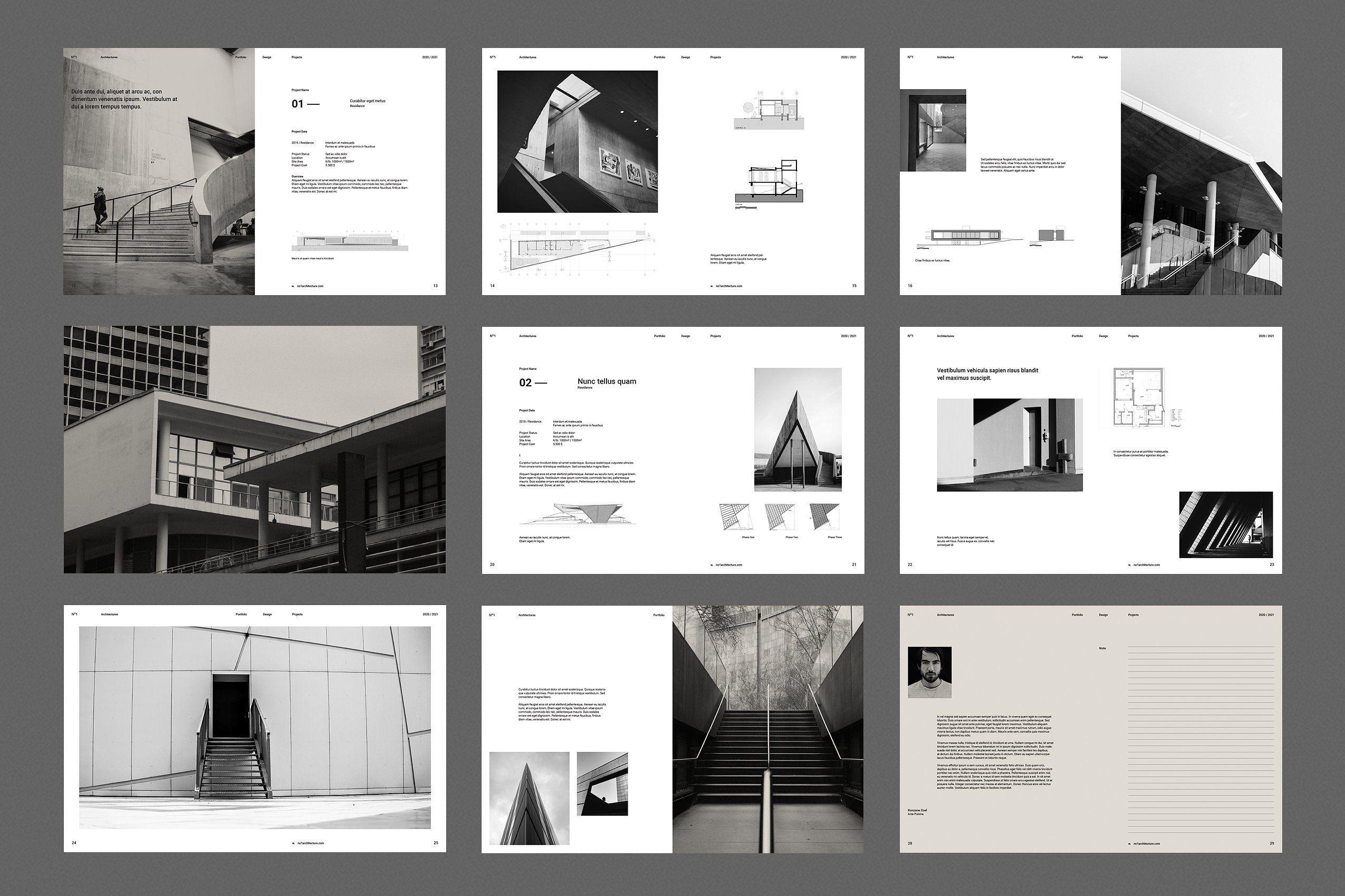 Architecture Brochure   Architecture portfolio template ...
