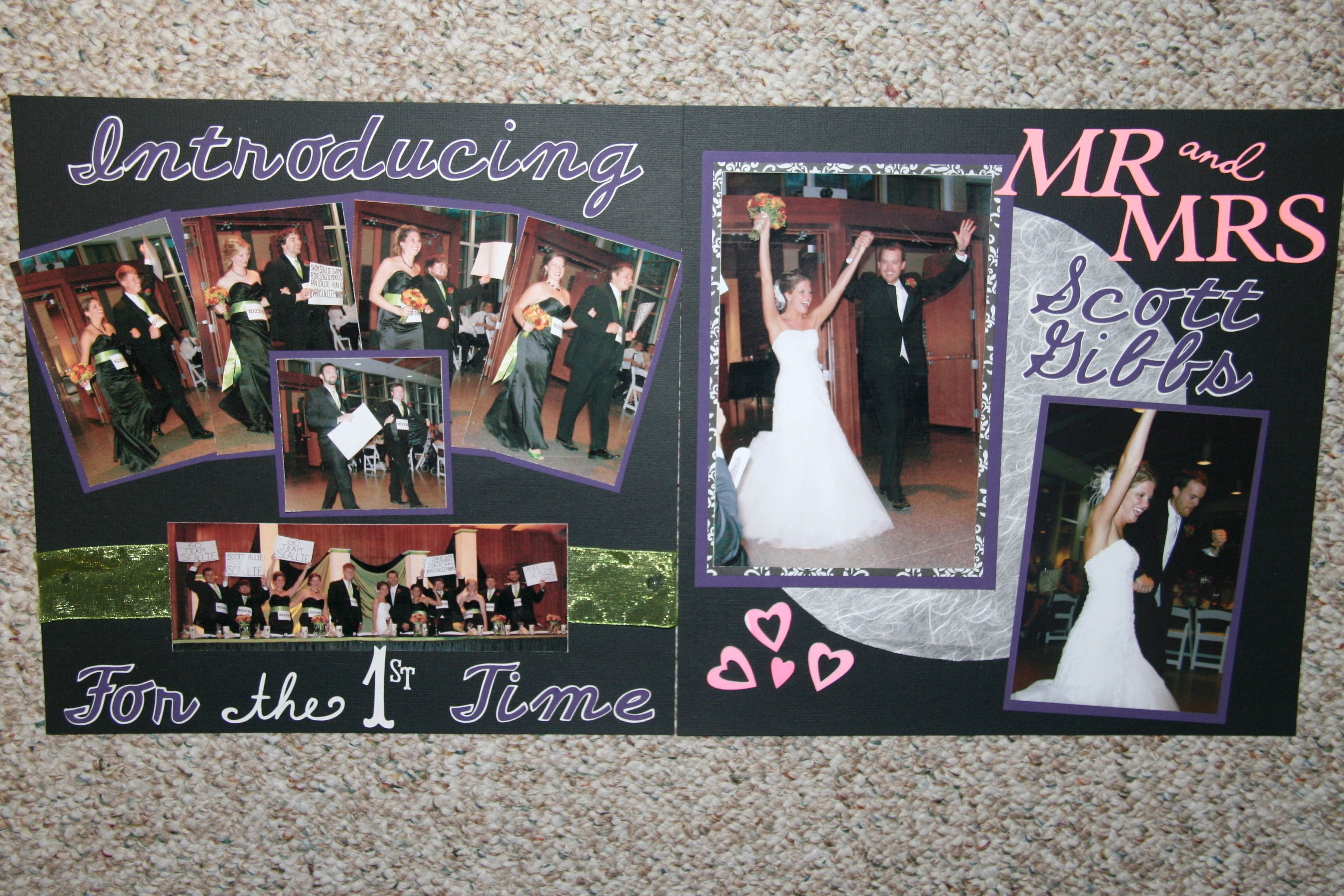 Introductions at the reception, Wedding Scrapbook