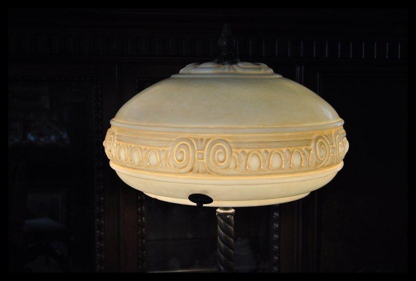 PRZEPIĘKNA WYJĄTKOWA LAMPA Z UNIKATOWYM KLOSZEM