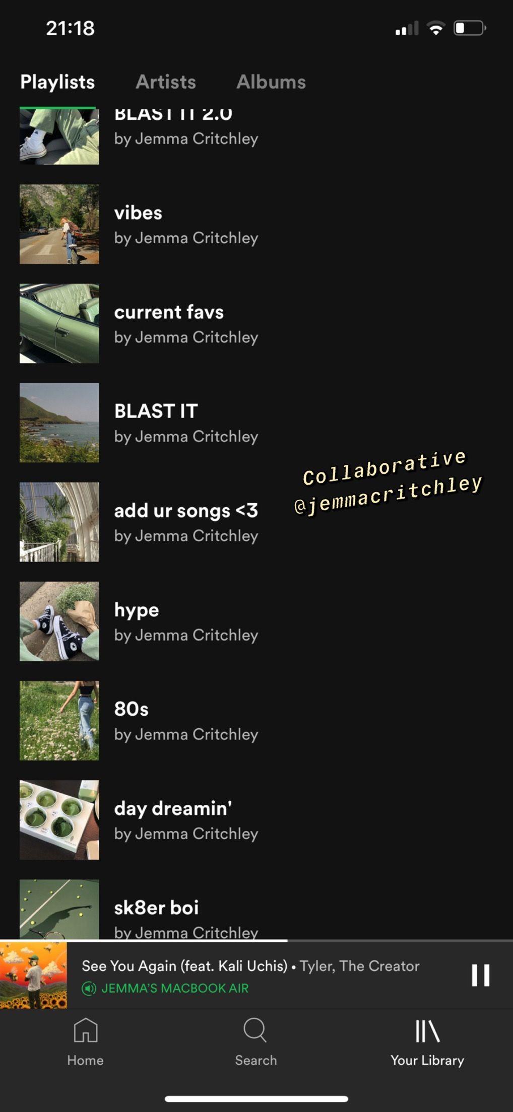 Spotify Jemmacritchley Playlist Names Ideas Best Spotify Playlists Spotify