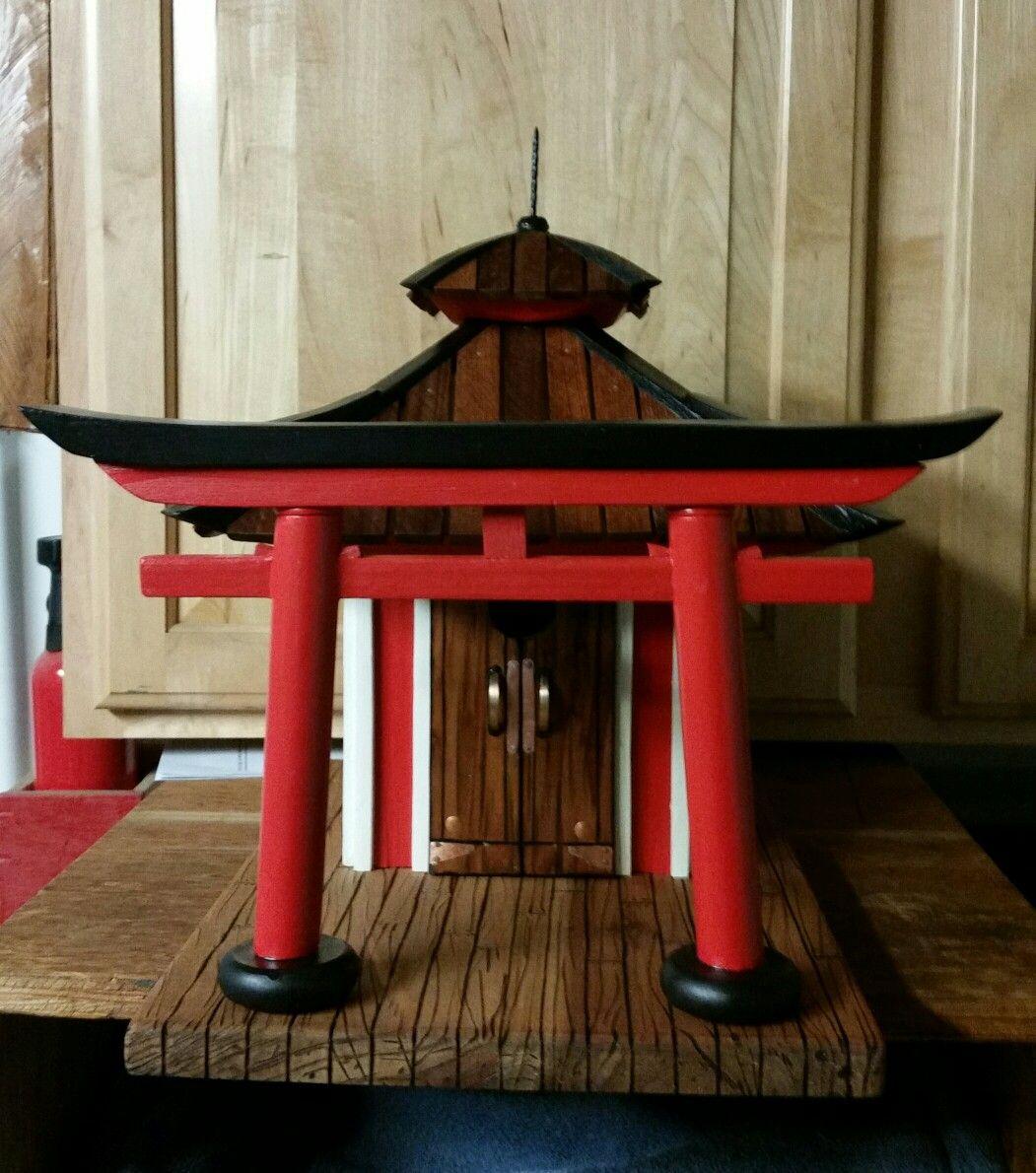 Pagoda Style Birdhouse Bird Houses Wood Bird Feeder Japanese