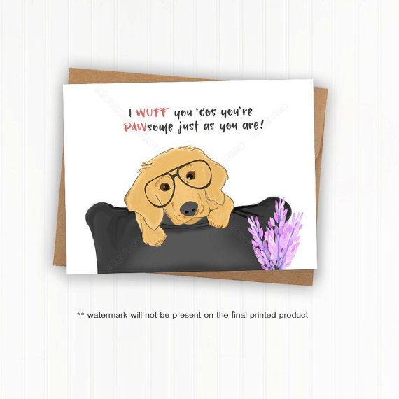 Pun Funny Dog Birthday Love Card Cute Witty By Designsfrankly