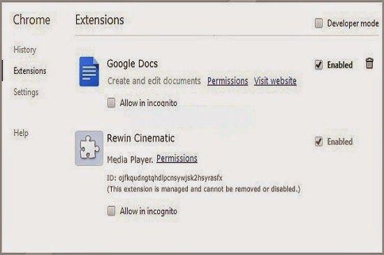 Rewin Cinematic wird als sehr schädlich Adware-Programm, das viele unerwünschte Anzeigen und gesponserte Links auf Web-Seiten angezeigt werden klassifiziert.