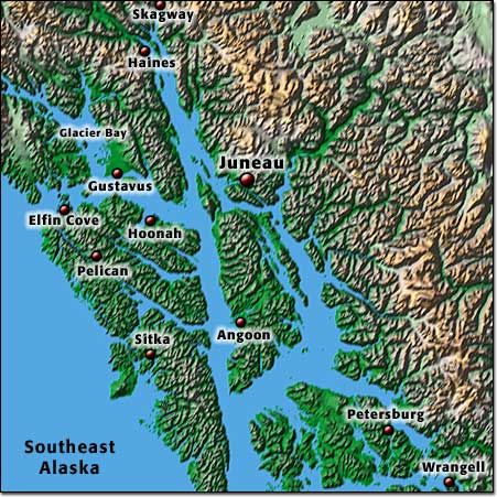 Southeast Alaska Regional Map (download pdf) | Alaska Maps ...