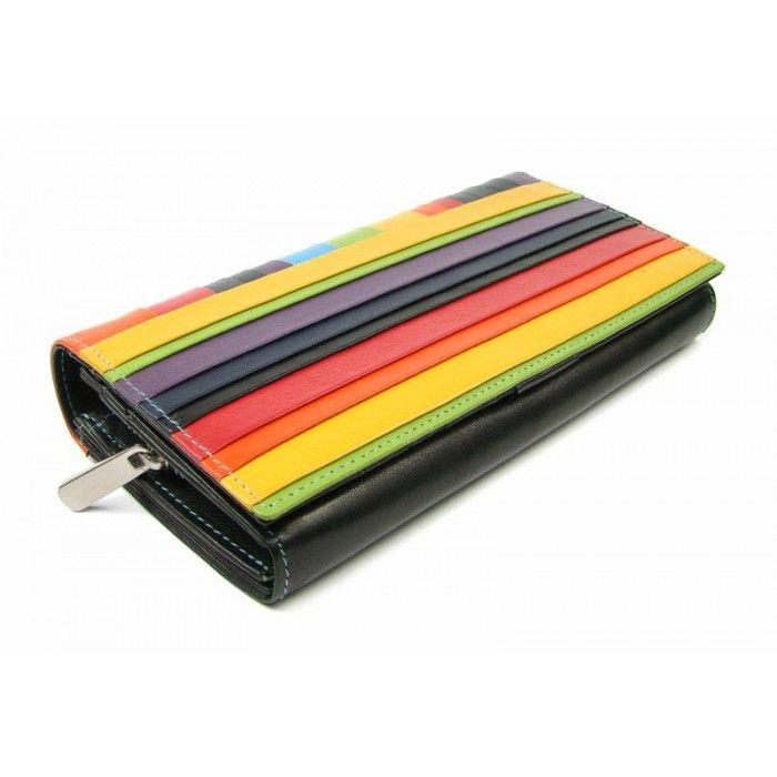 5f46ebf4d6f Barevná dámská kožená peněženka - peněženky AHAL