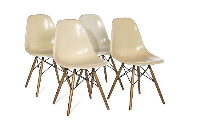 Charles ray eames 1907 1978 1912 1988 suite de for Chaise eames dkr