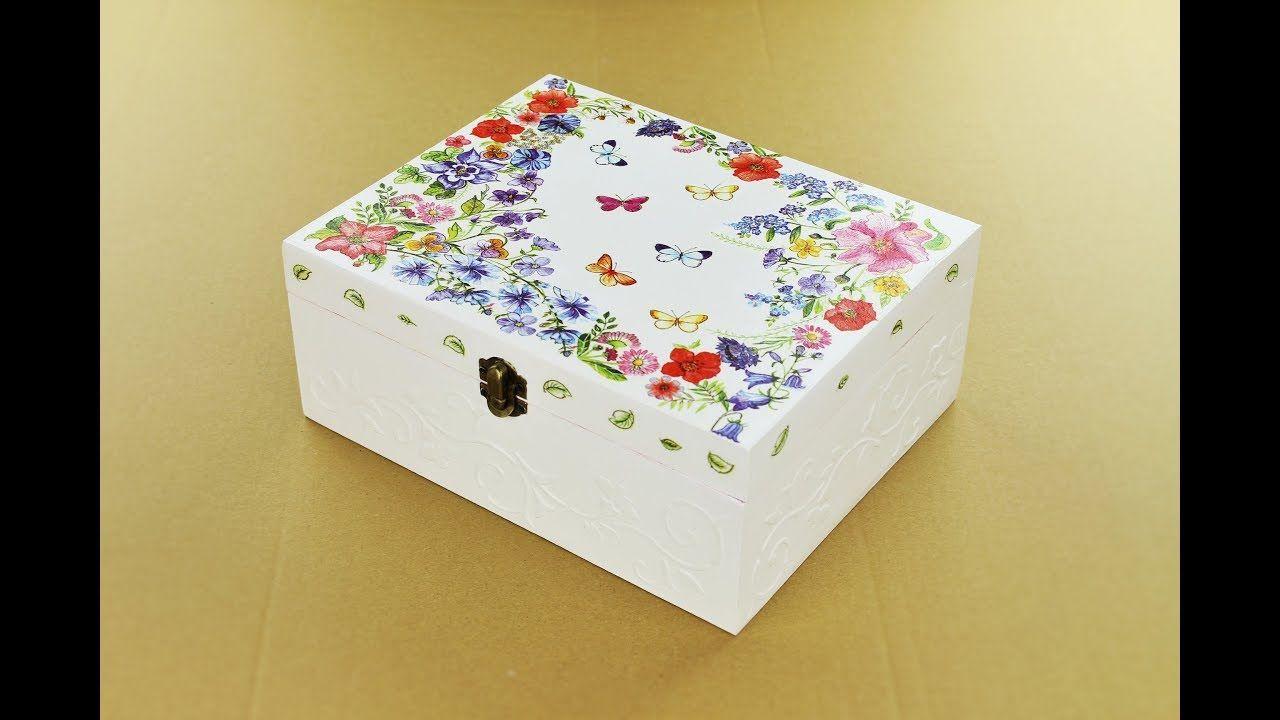 Decoupage wooden box \u2013 diy painted box \u2013 Decoupage Tutorial