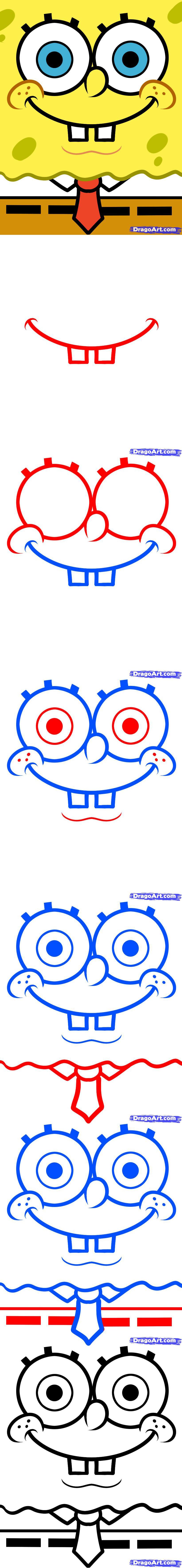 How To Draw Spongebob Easy by Dawn | Festa do bob esponja ...