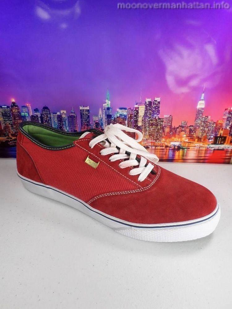 90cd0d38cb9e5 Mens shoes PHAT FARM red suede tennis shoe walking Awesome Sneakers NEW! sz  12 M  PhatFarm  Walking