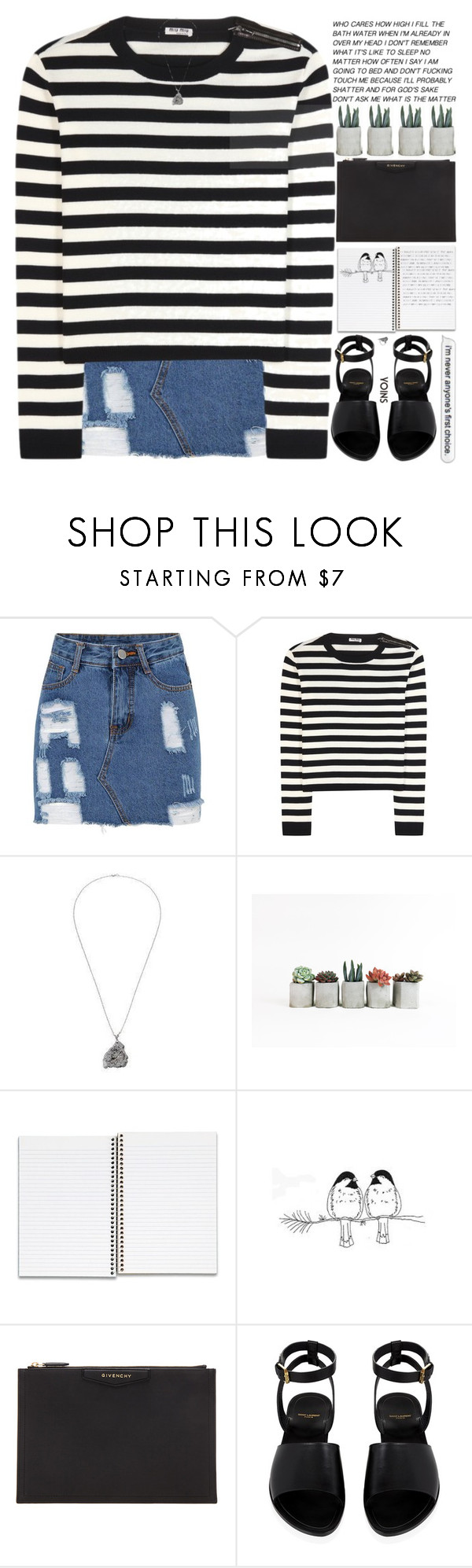 """""""just take a deep breath, everything will be alright"""" by alienbabs ❤ liked on Polyvore featuring Miu Miu, Givenchy, Yves Saint Laurent, bedroom, clean, organized, yoins and shein"""