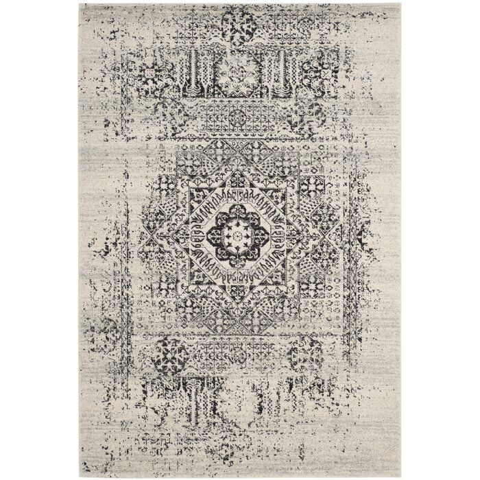 White Brick Baldwin Park S Design: Baldwin Park Oriental Ivory/Black Area Rug In 2020