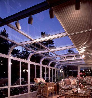 sunroom track lighting and shade savvy sunrooms greenhouse