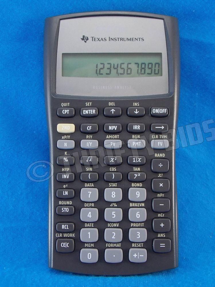 Ba Ii Plus Calculator Online : calculator, online, Texas, Instruments, Financial, Calculator, Battery, Business, Analyst, Calculator,