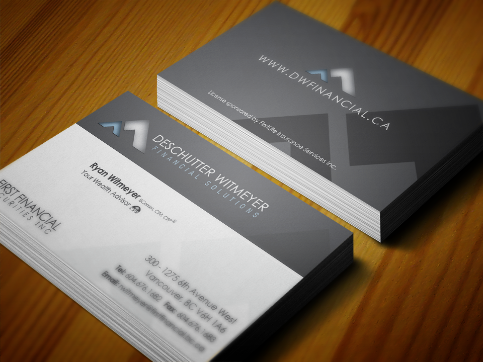 Business Card Design For Financial Advisor Firm