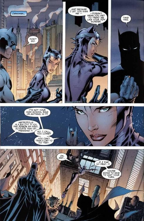 Batman And Catwoman In Hush Kissing Her Didn T Appease Her Batman Catwoman Comic Batman And Catwoman Catwoman