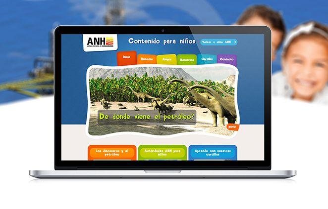 Diseño de Sitio Web ANH para Niños
