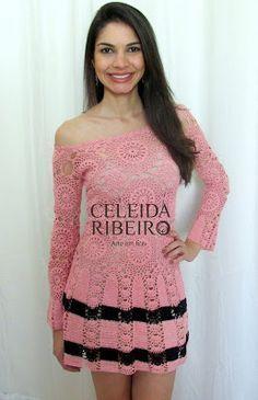 Celeida Artes em Fios: Vestido em crochet!