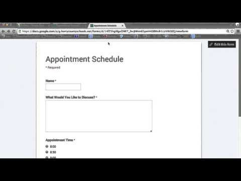 Scheduling Appointments with Google Forms