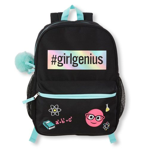 4d1f5e00609 Girls Embellished 'Girl Genius' Backpack - Black - The Children's ...