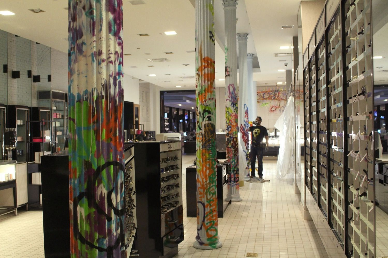 ST.ART Projects   See One is decorating columns for Bloomingdales ...