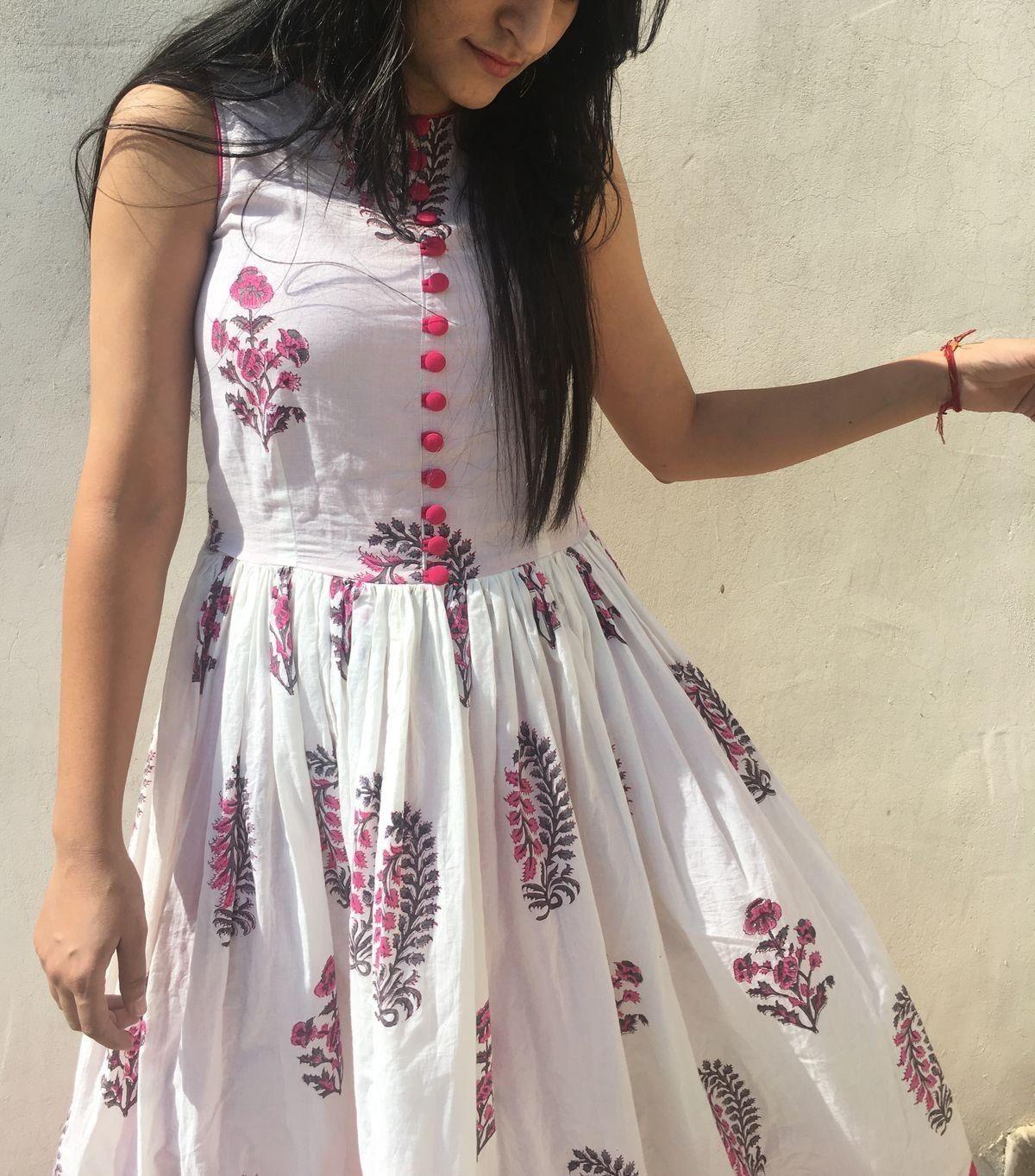 1000 In 2020 Cotton Dress Indian Cotton Dress Summer Kurti Designs Party Wear [ 1363 x 1200 Pixel ]
